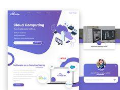 Compute | Cloud Computing Website Landing Page by Aman Singh