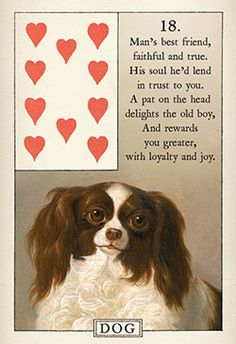 The Dog Lenormand card from the Blue Bird Lenormand
