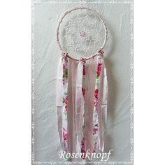 Individuell gefertigter, romantischer Traumfänger mit Rosen, der der gute Träume einfängt und Schlechte vertreibt