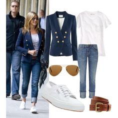 Great Classic: Blazer, Tee & Jeans, created by madaboutbasics on Polyvore