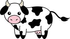 clip art black and white | Cute Black and White Cow - Free Clip Art