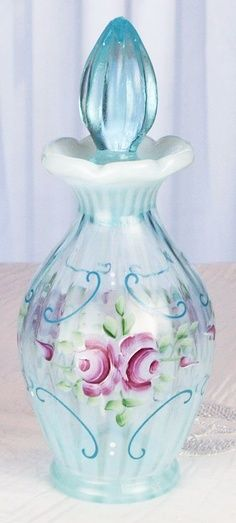 Vintage Fenton art glass perfume bottle