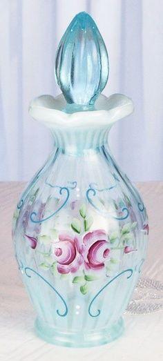 Vintage Fenton art glass perfume bottle