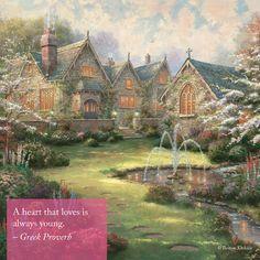 "Valentine's Inspiration - ""Garden Manor"" - Thomas Kinkade Vault"