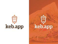 "Logo Idea for a ""döner kebab"" app by Daniela Wibbeke"