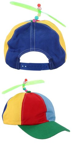 Adjustable Propeller Cotton Ball Cap Hat Multi-Color Clown Costume  Accessory Baseball Caps 037d3842c78a