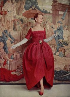 Balenciaga Gown - 1956  L'Officiel De La Mode - 417-418
