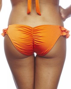25af051214208 Nicolita Designer Bikinis - Rumba Ruffles Forgiven Bikini Bottom Orange  Bikini Bottoms