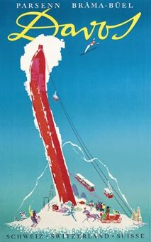A stunning collection of vintage ski posters has emerged for sale, depicting the halcyon days of European winter holidays, including the glamorous resorts of Davos and Chamonix. Vintage Ski Posters, Retro Poster, Poster Ads, Vintage Ads, Vintage Style, Travel Illustration, Retro Illustration, Tourism Poster, Viajes