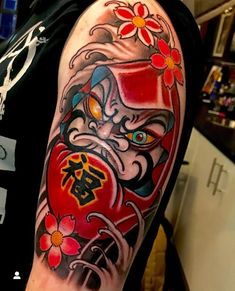 Foo Dog Tattoo Design, Medusa Tattoo Design, Buddha Tattoo Design, Mandala Tattoo Design, Japanese Tattoo Art, Japanese Tattoo Designs, Japanese Sleeve Tattoos, Daruma Doll Tattoo, Hannya Mask Tattoo