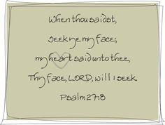 Psalm 27:8