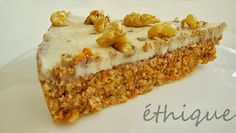 Ethique: RAW mrkvový dort Easy No Bake Desserts, Healthy Deserts, Banana Bread, Vegan Recipes, Vegan Food, Food And Drink, Low Carb, Sweets, Cupcakes