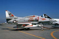 A-4 Skyhawk Military Jets, Military Aircraft, Fighter Aircraft, Fighter Jets, Uss Hancock, Douglas Aircraft, Us Navy Aircraft, Go Navy, Navy Marine
