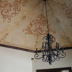 Not the chandelier, The stenciled ceiling yes
