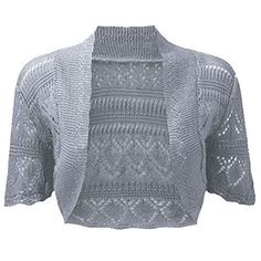 Special Offer: $1.00 amazon.com Upgrade any ensemble with this bolero style crochet knit shrug cardigan. The perfect cover-up, add style and stay warm with this trendy short sleeve sweater shrug. Filigree construction keeps you comfortable. The perfect addition to any outfit!LOTMART Ladies...