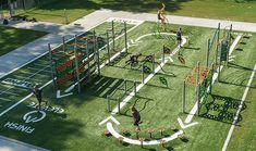 All Rec offers the Burke ELEVATE fitness course, a series of challenging physical obstacles similar to those in competitive TV shows. Park Playground, Playground Design, Backyard Playground, Backyard Gym, Backyard Obstacle Course, Obstacle Course Races, Outdoor Fitness Equipment, No Equipment Workout, Cool Playgrounds