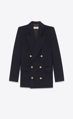 Ysl, Yves Saint Laurent, Designer Jackets For Men, Coats For Women, Clothes For Women, Double Breasted Jacket, Color Dorado, Tailored Jacket, Long Jackets