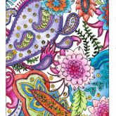 Dover Publications Public Voting Portal {entry for the Dover Peaceful Meditations contest. Very good work! Love paisles & colors. Also love that part of background is colored in! All white is so boring! I colored this same page from Paisley Designs Coloring Book with a completely different result-all in 'warm' colors: red, yellow, orange, etc.!}