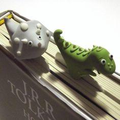 Polymer clay bookmarks by Melarin