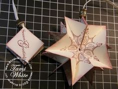 Pop Up WOW Ornament featuring Stampin' Up stamps