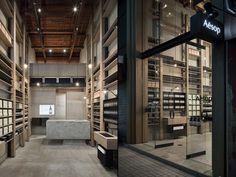 Aesop store by Simplicity, Osaka Japan store design Shop Interiors, Office Interiors, Aesop Store, Timber Shelves, Japan Store, Osaka Japan, Hospitality Design, Retail Shop, Commercial Design