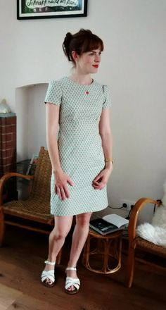 Zollie's Megan dress. Pattern from Love at First Stitch