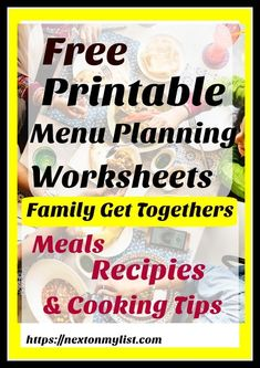 Planning a family vacation or special event requires lots of lists, including menus, and recipes. Make it perfect with these free menu plans & recipes. Overnight Egg Casserole, Printable Menu, Free Printables, Kitchen Necessities, Best Comfort Food, Cooking Tips, Cooking Recipes, Menu Planning, Food Lists
