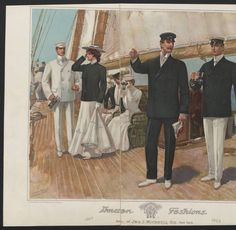 1902-1903, Plate 042. 1902-1903. Metropolitan Museum of Art, New York. Costume Institute. Fashion plates, mens 1880-1939 Costume Institute Fashion Plates. #greattime #sailing | A relaxing summer day sailing with friends