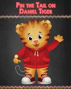 Daniel Tiger Birthday Party Activities >> Pin the Tail on Daniel Tiger