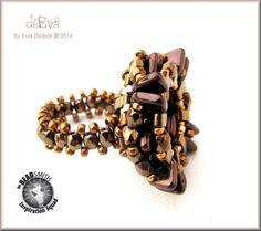 Eva Dobos-Hungary  Miyuki Half Tila Beads