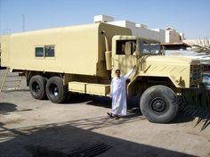 HZ1BC  Here is My truck when we go for hunting, it contains a radio room and ready for all circumstances.