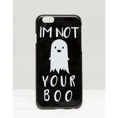 ASOS - Halloween I'm Not Your Boo - iPhone 6- und 6s-Hülle - Schwarz