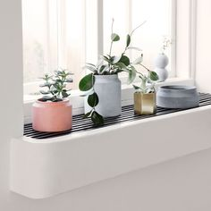 Ferm Living — S/S 2015 Collection // Plants and window ledge Indoor Planters, Indoor Garden, Planter Pots, Interior Styling, Interior Design, Pot Lights, Deco Originale, Concrete Pots, Deco Design