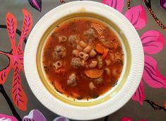 Italiensk kjøttbollesuppe med pasta Cheeseburger Chowder, Soup, Pasta, Soups, Noodles, Chowder, Pasta Dishes