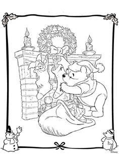 Disney Christmas Coloring Pages Quilting Raskraski Detskie