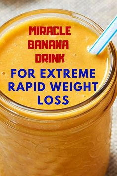 Miracle Banana Drink For Extreme Rapid Weight Loss Weight Loss Drinks, Weight Loss Smoothies, Easy Green Smoothie Recipes, Acid Reflux Recipes, Banana Drinks, Diabetic Meal Plan, No Sugar Diet, Low Sugar Recipes, Fat Burning Detox Drinks