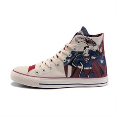 0706be22ff2e3b Converse Shoes Blue White Authentic DC Comics- Superman Chuck Taylor All  Star Womens Mens Canvas Sneakers High Tops - Dereo Shop