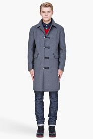 MARNI grey Wool duffle Coat