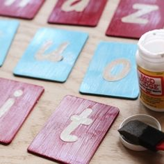 Save money by making your own Montessori Sandpaper Letters