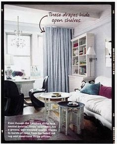 Rashida Jones NYC studio apartment - floorplan sketch & pics from domino magazine - on website :)