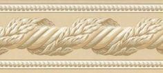 Architectual Crown Molding in Almond Wallpaper Border