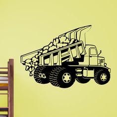 Cool Dumper Truck Dumping Load Wall Sticker