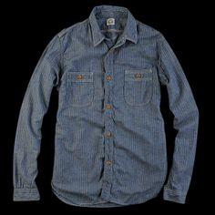 UNIONMADE - Journal Standard - Selvedge Heather Grey Stripe Shirt