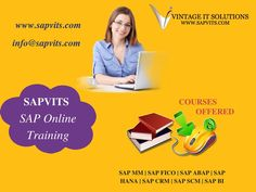 #SAPVITS is one of the leading #SAPOnlineTraining and consulting company. We provide real-time and focused  SAP Training and other SAP modules. We provide extensive SAP training to corporate and individuals.
