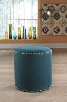 Revel - Teal - Accent Ottoman