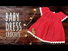 Tutorial Easy Baby Crochet Dress - YouTube