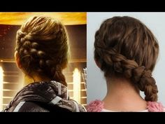 """Here is the 100% authentic Katniss Everdeen Braid tutorial, as taught to me by Linda Flowers, the lead hairstylist on """"The Hunger Games"""" movie set... and Linda's message to our fans!"""
