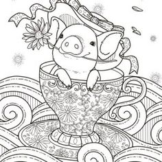 119 best Printable Adult Coloring Pages images on Pinterest in 2018 ...