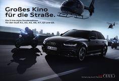 Audi S line style Sonderedition für den Audi A1, A3, A5, A6, A7, Q3 und Q5. Großes Kino für die Straße. 2015 | auto car brochure | by worldtravellib World Travel library - The Collection