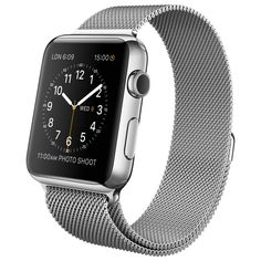 Apple Watch - 42mm Stainless Steel Case with Milanese Loop - Apple